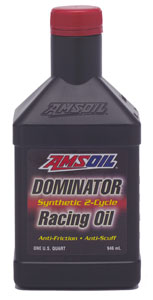 Click for larger image - DOMINATOR Synthetic 2-Cycle Racing Oil